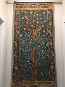 """50"""" WALL JACQUARD WOVEN TAPESTRY The Woodpecker WILLIAM MORRIS MEDIEVAL DECOR"""