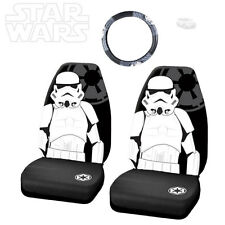 3PC STAR WARS STORMTROOPER CAR SEAT AND STEERING WHEEL COVER SET FOR FORD