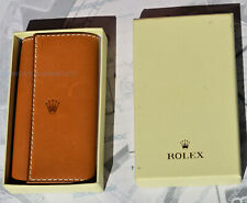 RARE key ring 4 anelli brown leather original ROLEX New with box