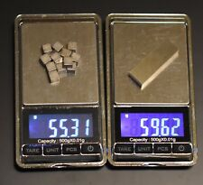 """Pinewood Derby Weights- A 99.95% Pure Tungsten bar is faster than 12 1/4"""" cubes"""