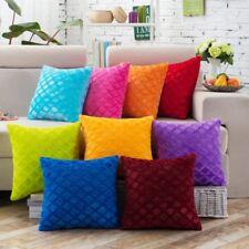 Vintage Solid Soft Plush Pillow Case Sofa Waist Throw Cushion Cover Home Decor