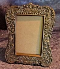 "Silvestri Decorative Desk Top Brass Picture Frame Holds 3 5/8"" X 5"" Picture"