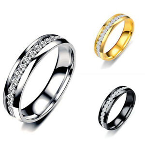 Wedding Gift Ladies Titanium 1Pcs Ring Exquisite Jewelry Sz:6-12 Stainless Steel