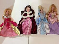 Walt Disney's Princess Collection Porcelain Doll Belle Cinderella Snow White LOT