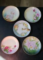 Vintage Zeh, Scherzer & Co Z.S.& Co Bavaria China Plate with Gold Tone Handle