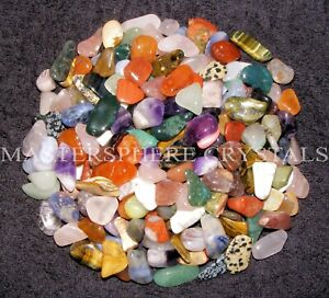 50 x Mixed Tumblestone SECONDS 12mm-30mm Beautiful Crystal Gemstone