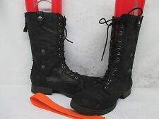 Mossimo Supply Co Black Zip Lace Military Fashion Boots Size 8.5