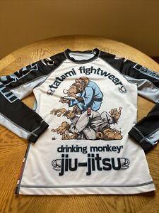 Tatami Fightwear Drinking Monkey Jiu Jitsu Long Sleeve Shirt Large TFW