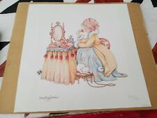 Mary Engelbreit Little Girl at Vanity & Cat Numbered Ltd Edition Print 220/750