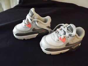 NIKE AIR MAX 90 LTR TODDLER leather SNEAKERS SHOES SZ 4C gray MINT CONDITION