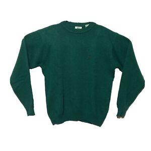 Vintage Izod Lacoste Sweater Mens L Virgin Wool Green Knit Embroidered Alligator