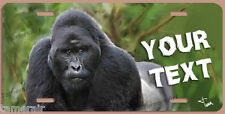 GORILLA APE ART PAINTING LICENSE PLATE, Made in USA