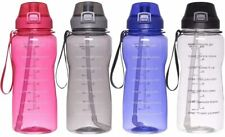 Sport  Water Bottle with Time Marker - Half Gallon Water Jug with Straw