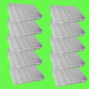 ? 10 Stk 36 Fächer Sortierkiste Sortimentskasten Sortierbox transparent Perlen