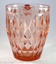 Vintage Jeannette Glass Windsor Diamond Pitcher Pink Depressionware 52 Oz