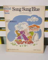 SONG SUNG BLUE SHEET MUSIC! WORDS & MUSIC BY NEIL DIAMOND!