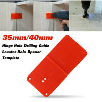 35mm 40mm Hinge Hole Drilling Guide Locator Hole Opener Template  W