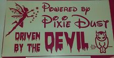 Alimentado por Pixe Polvo impulsada por el Diablo-El Arte De Pared, Auto Adhesivo, bici, Laptop