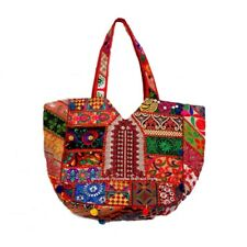 Banjara Ethnic Tribal Bohemian Patchwork Handmade Gypsy Boho Shoulder Tote Bag.