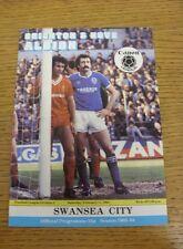 11/02/1984 Brighton And Hove Albion v Swansea City  (Excellent Condition)