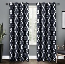 New Pair EXCLUSIVE HOME IRONWORK BLACKOUT Grommet PANELS PEACOAT BLUE 52x84