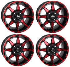 4 ATV/UTV Wheels Set 14in STI HD6 Red 4/156 4+3 POL