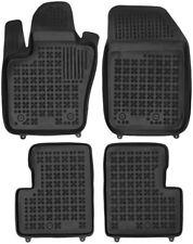 4-teilige schwarze Gummifußmatte für FIAT 500X Bj. ab 2014
