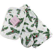 Kate Spade Pine Needles Tea Kitchen Towel Oven Mitt Potholder Christmas