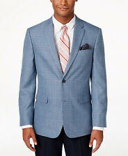 Tommy 2018 Men's Blue Classic-Fit Houndstooth Sport Coat 44L ~ New $225.00 ~