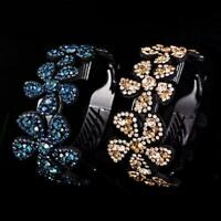 Women Rhinestone Crystal Claw Hair Clip Ponytail Bun Holder Hairpin Hairgr A5H5