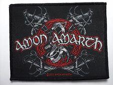 AMON AMARTH - VIKING LOGO - WOVEN PATCH - BRAND NEW - MUSIC BAND 2468