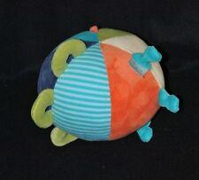 Peluche doudou boule balle d'éveil grelot PUSBLU DM multicolore 13 cm TTBE