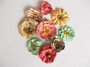 2 x Prima Marketing - Sweet Peppermint Crafting Flowers