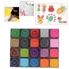 DIY Multi-color Children Toy Tool Craft Fabric Rubber Stamp Ink Pad Oil Based