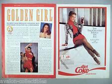 Katarina Witt for Diet Coke Double-Page PRINT AD - 1992 ~~ Coca-Cola