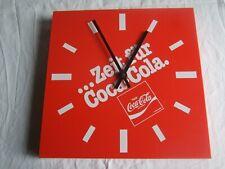 Coca Cola Wand Uhr ...Zeit für Coca Cola Temantic 1985 Funktioniert -Bitte lesen
