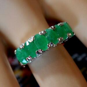 SILVER second hand jade ring