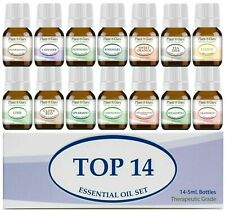 Essential Oil Set 14 - 5ml 100% Pure Therapeutic Grade Sampler Gift Kit Bulk Lot