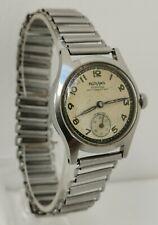 Vintage 1940s Rodana Etanche Pare Choc WW2 Era Military Style Gents Wrist Watch