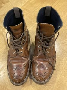 Trickers Mens Size 10.5 Chestnut Brown Stow Boots.