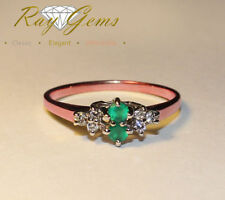 Natural Not Enhanced Emerald Rose Gold Fine Rings