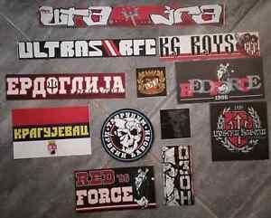 12 x Football Ultras Stickers Radnički Kragujevac-DEVILS