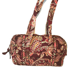 Vera Bradly Retired Piccadilly Plum Fall 05 Long Strap Duffle Style Plaid Purse
