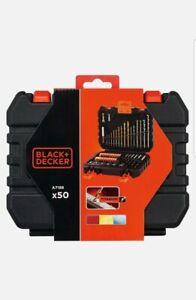 Black + Decker A7188 Drill and Screwdriver Bit Set 50-Piece