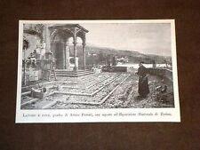 Esposizione di Torino del 1898 Lavoro e pace Quadro di Arturo Ferrari