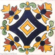 C#011) MEXICAN TILES CERAMIC HAND MADE SPANISH INFLUENCE TALAVERA MOSAIC ART