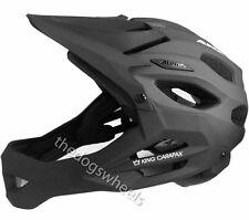 Alpina King Carapax Enduro Helmet Fullface Full Face MTB Bike 57-62cms Black