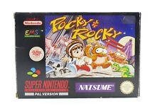 Pocky & Rocky in OVP + Anleitung - CIB 100% ORIGINAL für Super Nintendo / SNES