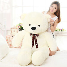 Big White Teddy Bear Stuffed Animal Plush 47'' Cushion Toy Birthday Pillow Gifts