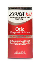 Zymox Plus Otic-HC Advanced Formula Hydrocortisone 1.0% 1.25 oz, New Packaging
